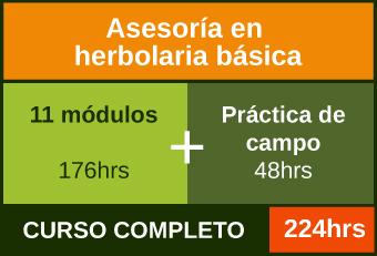 Cursa los 11 módulos más práctica de campo para acreditar la Asesoría en herbolaria básica