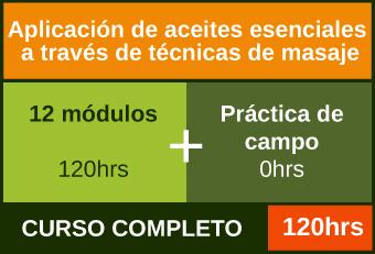 Cursa los 12 módulos para acreditar la Aplicación de aceites esenciales a través de técnicas de masaje
